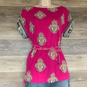 Juicy Couture tunic tie waist top